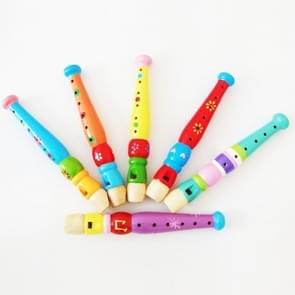 Kindergarten Children Early Education Teaching Aids houten Kleurrijk Flute Musical Play Toys, Afmeting: 20*2.5cm