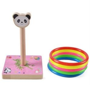 Kindergarten Children houten Panda Animal Throwing Ring Toss Games Activities Toys, Afmeting: 9*9*14.7cm