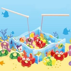 Children Early Education houten 3D Stereo Assembling Fishing Game Educational Toys, Afmeting: 30*23*3cm