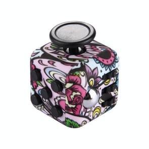 Bloemen patroon Fidget Cube Relieves Stress en Anxiety Attention Toy voor Children en Adults