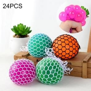 24 PCS 5cm 3-Color Anti-Stress Face Reliever Grape Ball Extrusion Mood Squeeze Relief Healthy Funny Tricky Vent Toy