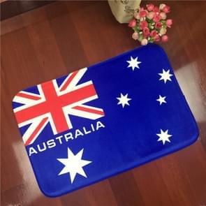 Australia Flag Pattern Rectangular Bathroom Living Room Bedroom Door Flannel Anti-skid Household Foot Pad Carpet, Size: 50cm x 80cm