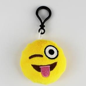 20 PCS Creative Plush Doll Mobile Pendants Gift Cartoon Cute Facial Expression Decorations Keychains with Hook