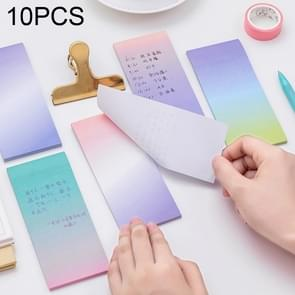 10 PCS Gradient Color Self Adhesive Memo Pad N-times Sticky Notes Post It Bookmark School Office Supply, Random Color Delivery
