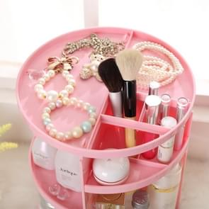 360 Degrees Rotate Functional Cosmetics Container Makeup Organizer Eco-friendly Storage Box, Size: 23 x 31cm(White)