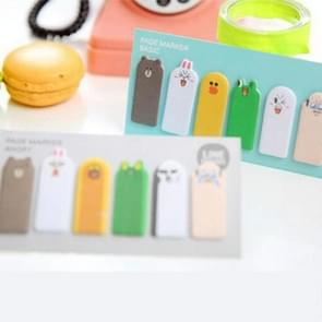 2 PCS Creative Thumb Cute Cartoon Sticky Notes Post It Memo Pad N Times Posted Paper Bookmarks, Thumb Size: 4.0 x 1.0cm, Random Style Delivery