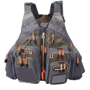 MANNER Outdoor Multifunctional Fishing Life Vest Swimming Life Jacket (Army Green)