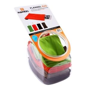 20 PCS Mixed Colors HAWEEL Soft Flannel Pouch Bag Kit with Candy Cans Package for up to 5.5 inch Screen Phone, Size: 18.5cm x 9cm