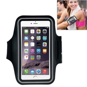 HAWEEL Sport Armband Case with Earphone Hole & Key Pocket for iPhone 6 Plus, Galaxy S6 / S5(Black)