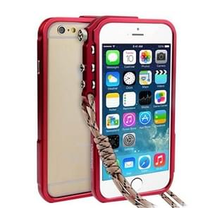 For iPhone 6 & 6s Aviation Aluminum Bumper Frame(Red)