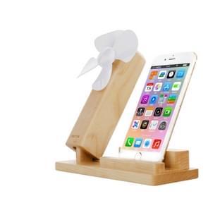 Seenda 2 in 1 Desktop USB Cooling Fan Blower + Universal Wooden Phone Holder