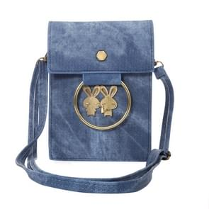 Multi-function Jeans Cloth Couple Style Universal Vertical Flip Leather Shoulder Bag with Card Slots for iPhone 7 & 7 Plus & 6 Plus & 6s Plus / Samsung Galaxy Note 8 & S7 / LG G5 / Huawei P8(Blue)