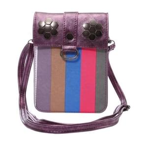 Multi-function Splice Universal Vertical Flip Leather Shoulder Bag with Card Slots for iPhone X & 7 & 7 Plus & 6 Plus & 6s Plus / Samsung Galaxy Note 8 & S7 Edge & S6 Edge+ / Sony Xperia Z5 / Huawei Mate 8(Purple)