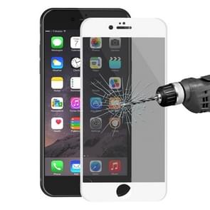 ENKAY Hat-Prince for iPhone 6 & 6s 0.26mm 9H Surface Hardness 3D Ultra-thin Carbon Fiber Privacy Anti-glare Full Screen Tempered Glass Protective Film (White)