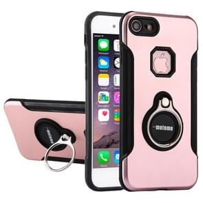 For iPhone 6 & 6s PC+TPU Protective Back Cover Case with Ring Holder(Rose Gold)