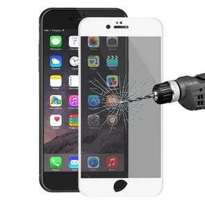 ENKAY Hat-Prince for iPhone 6 Plus & 6s Plus 0.26mm 9H Surface Hardness 3D Ultra-thin Carbon Fiber Privacy Anti-glare Full Screen Tempered Glass Protective Film(White)