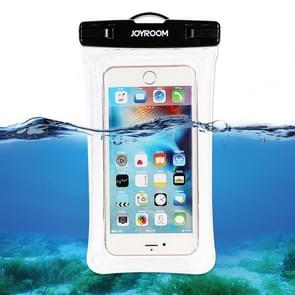 JOYROOM CY168 TPU + ABS Inflatable Waterproof Mobile Phone Bag, Suitable for Less Than 6 Inch Mobile Phones(Transparent)