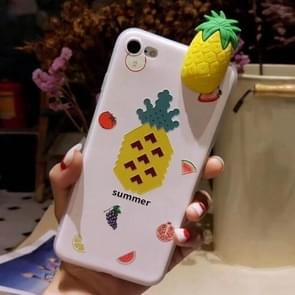 For iPhone 6 Plus & 6s Plus Fashion Papa Fruit Pineapple Pattern Protective Back Cover Case