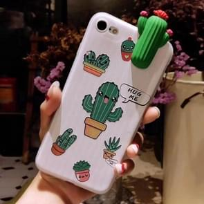 For iPhone 6 Plus & 6s Plus Fashion Papa Plant Cactus Pattern Protective Back Cover Case