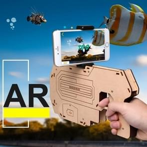 Bluetooth 4.0 Phone Stand Holder Design Wooden Large AR Gun Toys VR Games 3D AR Gamepad for iOS & Android Smartphones