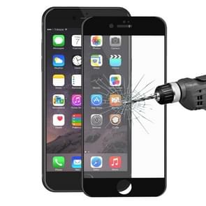 ENKAY for iPhone 8 & iPhone 7  Ultrathin 0.2mm 9H Surface Hardness Soft Carbon Fiber 3D Curverd Arc Explosion-proof Tempered Glass Full Screen Film(Black)