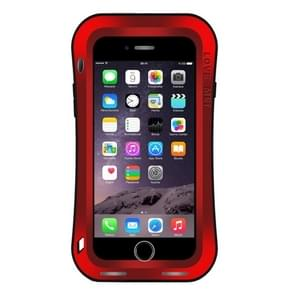 LOVE MEI for iPhone 7 Plus Waistline Triobump Professional and Powerful Dustproof Shockproof Anti-slip Metal Protective Case(Red)