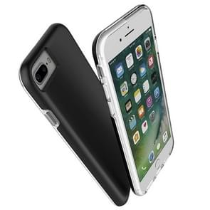 For iPhone 8 Plus & 7 Plus PC + TPU Chrome Plated Press Button Protective Back Cover Case (Black)