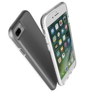 For iPhone 8 Plus & 7 Plus PC + TPU Chrome Plated Press Button Protective Back Cover Case (Grey)