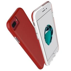 For iPhone 8 Plus & 7 Plus PC + TPU Chrome Plated Press Button Protective Back Cover Case (Red)