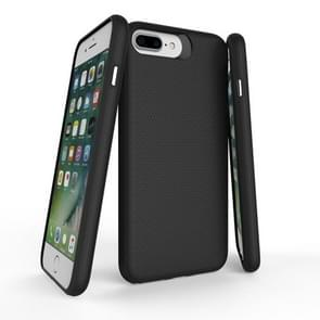 For iPhone 8 Plus & 7 Plus PC + TPU Chrome Plated Press Button Anti-slip Protective Back Cover Case (Black)