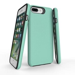 For iPhone 8 Plus & 7 Plus PC + TPU Chrome Plated Press Button Anti-slip Protective Back Cover Case (Green)