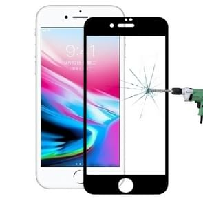 For iPhone 8 0.3mm 9H Surface Hardness 4D Curved Full Screen Tempered Glass Screen Protector (Black)