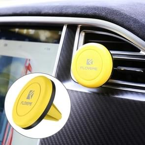 FLOVEME Universal Magnetic Car Air Outlet Vent Mount Phone Holder ABS Plastic Stand, For iPhone, Galaxy, Sony, Lenovo, HTC, Huawei, and other Smartphones(Yellow)