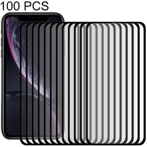 100 PCS 9H 10D Full Screen Tempered Glass Screen Protector for iPhone XR