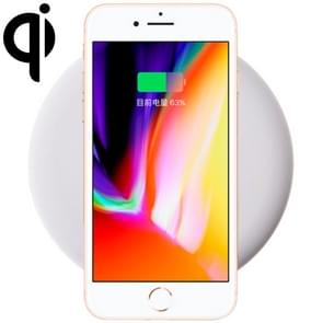 9V 1A Output Frosted Round Wire Qi Standard Fast Charging Wireless Charger, Cable Length: 1m, For iPhone X & 8 & 8 Plus, Galaxy S8 & S8 +, Huawei, Xiaomi, LG, Nokia, Google and Other Smart Phones(White)