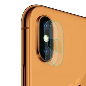 2 PCS ENKAY Hat-Prince 0.2mm 9H 2.15D Rear Camera Lens Tempered Glass Film for iPhone XS Max