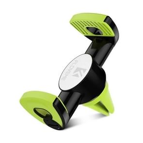 FLOVEME Car Air Outlet Mount 360 Degree Rotation Bracket Phone Holder, For iPhone, Galaxy, LG, Lenovo, HTC, Huawei and other 3.5-6 inch Smartphones (Green)
