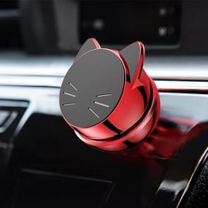 Vehicle Car Dashboard Mount PC Voortune Cat Design 360 graden draaiend Magnetic Phone houder(rood)