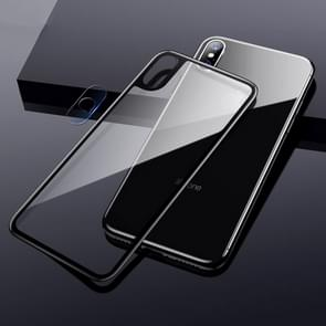 TOTUDESIGN Rhino Family Tempered Glass Camera Lens + Back Protective Film Set for iPhone XS Max (Black)