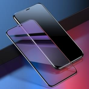 Baseus 0.2mm 9H Curved Full Screen Anti Blue-ray Tempered Glass Film for iPhone XS Max (Black)