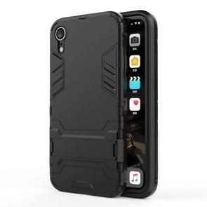 PC + TPU Shockproof Protective Case with Holder For iPhone XR (Black)