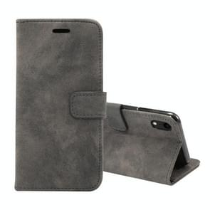 Sheep Bar Material Horizontal Flip PU Leather Case for iPhone XR, with Holder & Card Slot & Wallet & Photo Frame(Black)