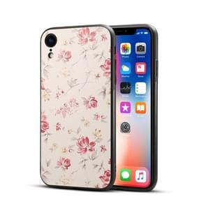 Begonia Flower Pattern TPU + PC Case for iPhone XR