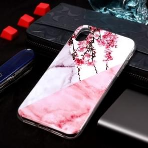 Marble Pattern Soft TPU Case For  iPhone XS Max (Plum Blossom)