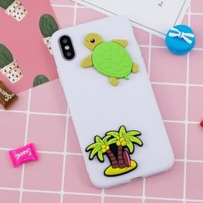 Paster Pattern Soft TPU Protective Case For iPhone XS Max (Seaside Coconut Tree)