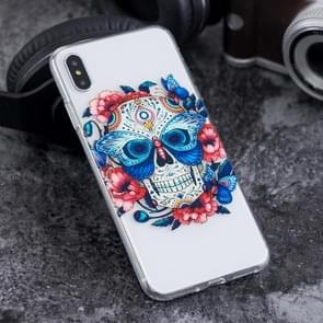 The Masked Ghost Pattern Highly Transparent Soft TPU Protective Case for iPhone XS Max