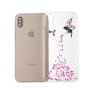 Epoxy Angel Pattern Soft Case For  iPhone XS Max  6.5 inch(Pink)