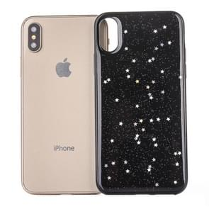 Epoxy Sky Pattern Soft Case For  iPhone XS Max  6.5 inch(Black Sequin)