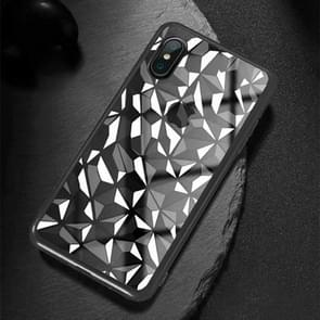 Diamond Texture Electroplating TPU Case For  iPhone XS Max  6.5 inch(Black)