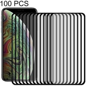 100 PCS 9H 10D Full Screen Tempered Glass Screen Protector for  iPhone XS Max(Black)